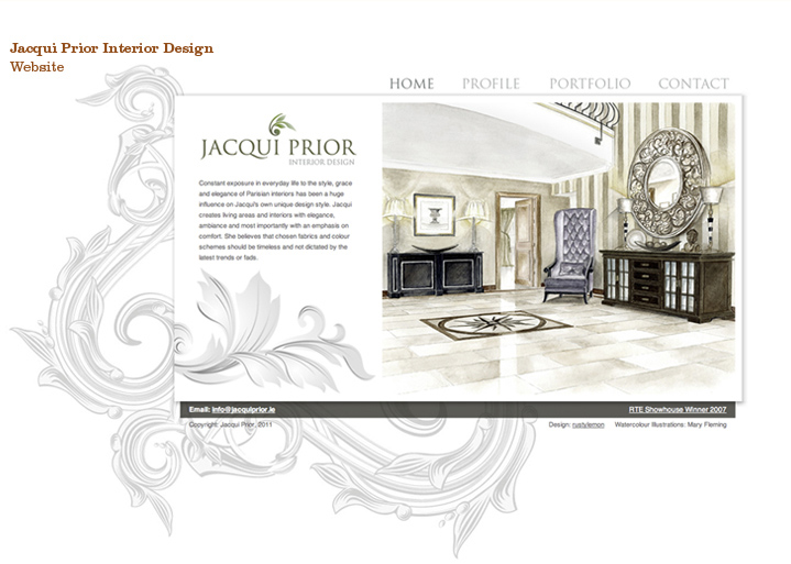 Jacqui Prior, Content managed website and branding